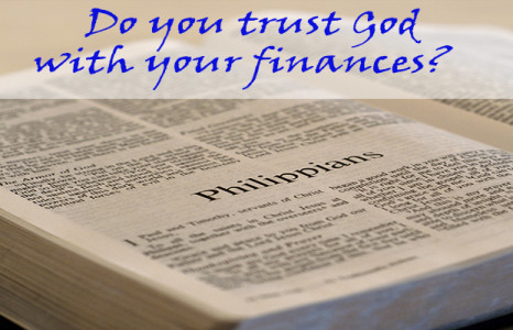 Do you trust God with your finances?